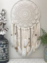 Giant Dream Catchers Delectable Large Ivory And Neutral Dream Catcher Giant Dream Catcher Large