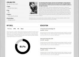 Resume 7 Creative Online Cv Resume Template For Web Graphic