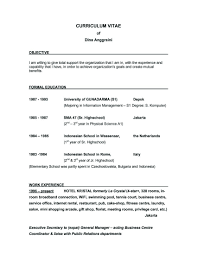 Secretary Job Objective It Resume Cover Letter Sample