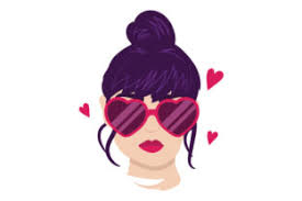 Download free eyeglasses vector and icons for commercial use. Woman With Heart Shaped Glasses Svg Cut File By Creative Fabrica Crafts Creative Fabrica