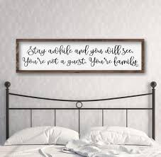 guest bedroom decor large bedroom sign