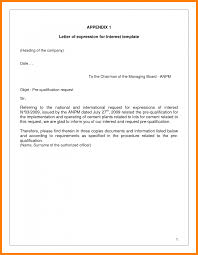8 Expression Of Interest Letter Template Assembly Resume