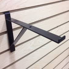 details about 12 heavy duty slatwall shelf brackets with support black pack of 10