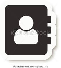 Address Telephone Book Address Phone Book Icon Flat Design Style