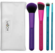 royal and langnickel moda pro makeup brushes plete kit 5 count walmart