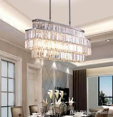 jess modern crystal chandelier for dining room rectangle chandeliers lighting kitchen island crystal chandelier llfa stainless steel pendant light