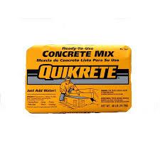 quikrete 40 lb high strength concrete