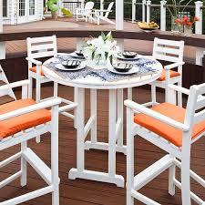 trex outdoor furniture monterey bay 48 in round bar table