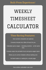 Payroll Timesheet Calculator The Weekly Timesheet Calculator On This Page Will Help You Reduce 24