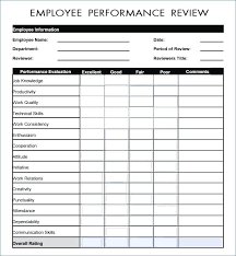Employee Evaluation Form Sample Self Assessment Template Templates ...