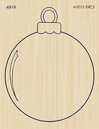 Simple Christmas Ornament Rubber Stamp By Drs Designs
