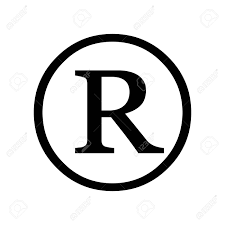Registered Symbol Registered Trademark Symbol Isolated On White