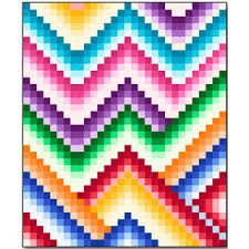 Quilt Inspiration: Free pattern day: Bargello Quilts & Harmony Bargello quilt, 60 x 72