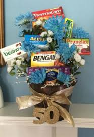 this fl bouquet was used for a 50th birthday but we also think it s a fun retirement idea use for someone with a sense of humor