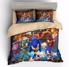 details about sonic the hedgehog bedding set duvet cover sets quilt cover with zip pillow sham