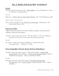 Mla Format Reference Page Best Photos Of Mla Format Bibliography Page Example Mla