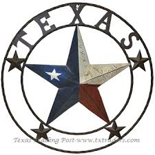 license plate lone star metal art with texas