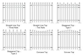 picket fence drawing. Picket Fence Drawing Six Plan Drawings Of Steel Fencing Patterns Teeth F
