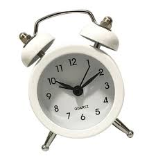 5cm twin bell alarm clock battery operated loud alarm clocks timer white hover to zoom 5cm twin bell alarm clock
