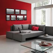 Compared to the other neutral tones in the room, the chairs' red color is the most popping. Best Living Room Decorating Ideas Designs Ideas Gray And Red Living Room Interior Design