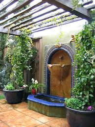 Wall Fountain Outdoor More Views Provincial Garden Solar Water Diy