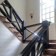 Indoor stair railings Bringthefreshl Black Stained Wood Stair Railing Idea Inspiration Leddysinfo Top 70 Best Stair Railing Ideas Indoor Staircase Designs