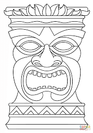 Small Picture Tiki Totem Mask coloring page Free Printable Coloring Pages