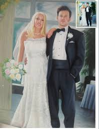 custom wedding portrait oil painting hand painted oil on canvas paint from photos pr14