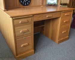 winners only oak desk w hutch