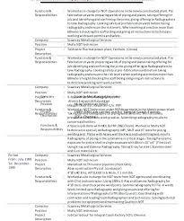 Ndt Technician Resume Sample Best Of Ndt Resume Format Download Boiler Engineer Sample Technician Cv