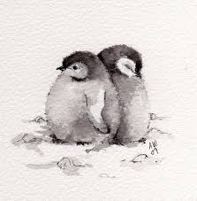 baby penguin drawing. Wonderful Baby Baby Penguins With Penguin Drawing G