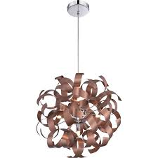 quoizel rbn2817sg ribbons modern satin copper finish 17 nbsp tall pendant lighting fixture loading zoom