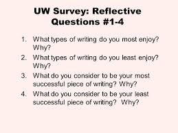 presenters university of tennessee ppt  53 uw survey reflective questions