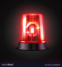 Realistic red led flasher red lights transparent Vector Image