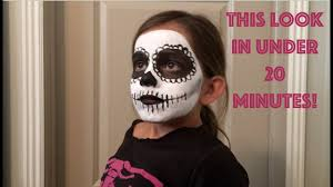 simple day of the dead face paint tutorial