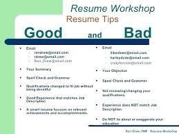 Bad Resume Samples Pelosleclaire Com