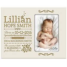 Amazon Com Personalized New Baby Birth Announcement Picture Frame