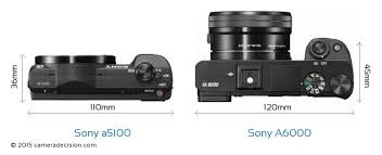 sony a5100. sony a5100 vs a6000 camera size comparison - top view k