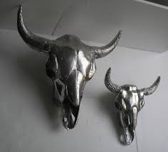 metal animal heads wall art