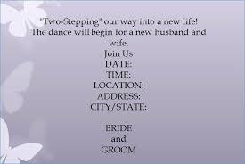 Dance Invitation Ideas Dance Invitation Wording Samples Only Bridal Bargains A Shop Wedding