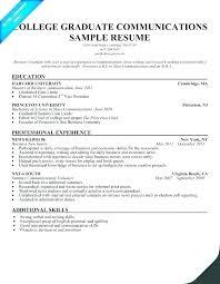 Resume Templates Recent College Graduate Recent Graduate Resume Template