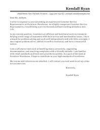 Cover Letter Customer Service Representative Call Center No