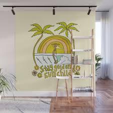 stay golden sun child retro surf art