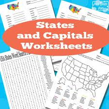 FREE States and Capitals Worksheets   Free Homeschool Deals ©