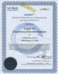 Clearance Certificate Sample Normi Letter Of Clearance Documentation National