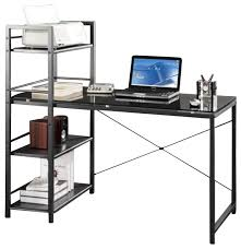 techni mobili tempered glass laptop desk in black desks and hutches by homesquare