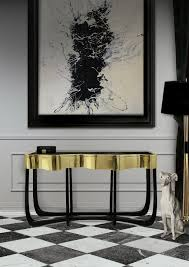 black hall console table. Hall Console Table In Gold Ideas Sinuous 1 Black