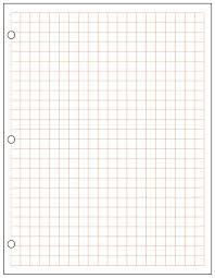 Metric Graph Paper 1 Cm Red 500 Sheet Ream