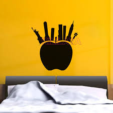 black wall stickers new york city silhouette big apple vinyl wall