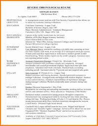 What Is Reverse Chronological Order Resume Reverse Chronological